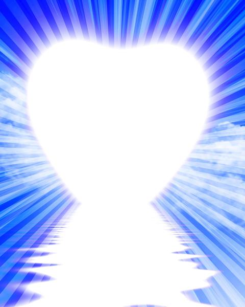 Heart shaped sunrise