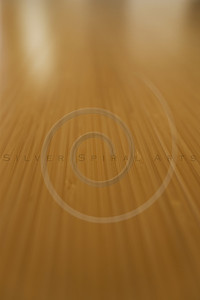Selective focus of bamboo flooring