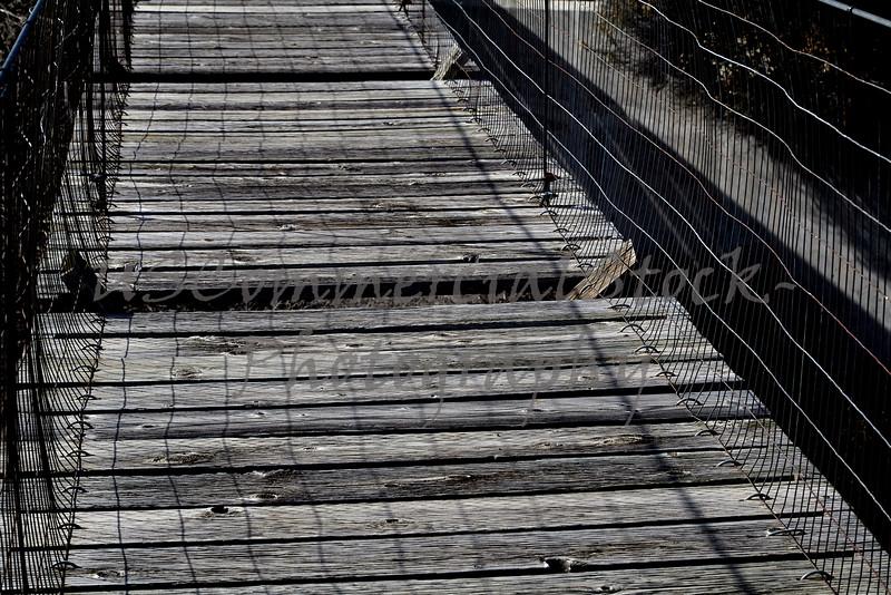 Broken Boards on old bridge