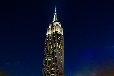 Empire State building at night, NYC, new york city, night photography, background,