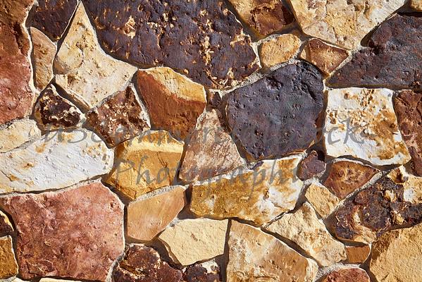 Stone Natural fieldstone cobble wall closeup