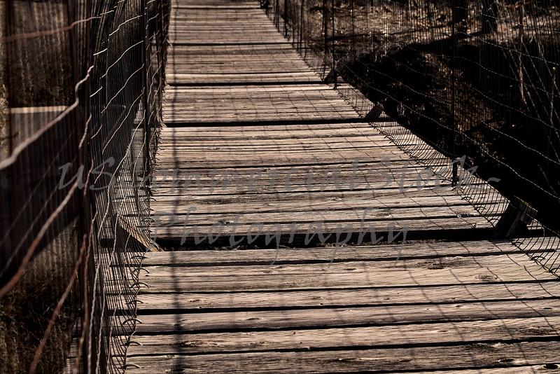 Wooden Bridge with broken slats