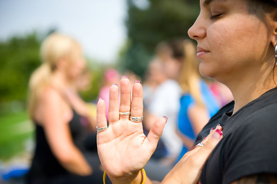 "Living Beyond Breast Cancer hosted their annual fundraiser, ""Yoga on the Steps"" iin Denver, CO at Cheeseman Park on September 23, 2012 to raise money for LBBC's mission of empowering all women affected by breast cancer to live as long as possible with the best quality of life, regardless of educational background, social support or financial means."