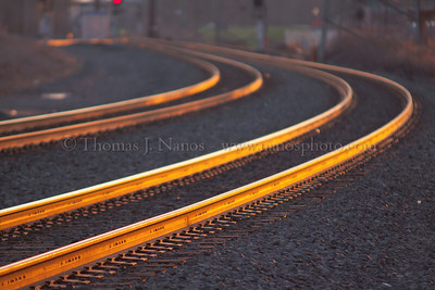 Golden Ribbons of St. Patrick's Day The rails of Bound Brook, NJ glow in the golden hour light at around 5:45PM