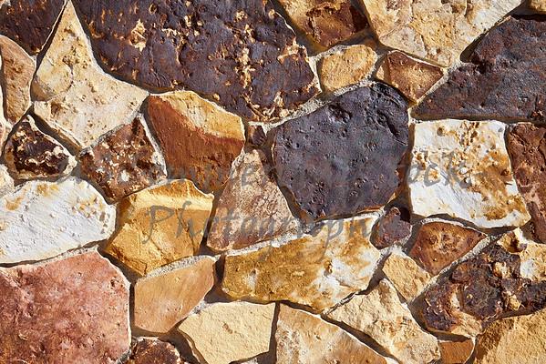 Stone Natural fieldstone cobble wall closeups