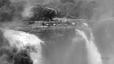 Crazy swimmers-Victoria Falls