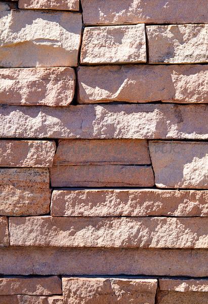 Stone Veneer Natural granite rose stack rock cliff ledge sandstone wall closeup