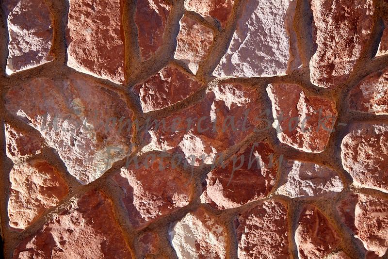 Stone Veneer Natural granite red rock detail closeup