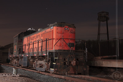 The New Haven Lives The Central New England Railroad's Alco RS-1 No 0670, a former New York, New Haven and Hartford Railroad locomotive, rests in Scantic, CT under the stars