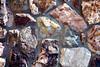 Stone Veneer Natural mineralized granite split rock wall closeup