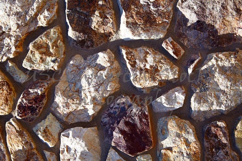 Stone Veneer Natural granite rock rubble random wall pattern closeup
