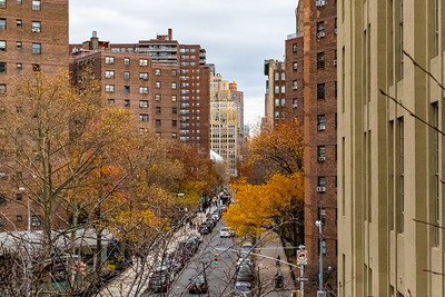 NYC street in fall, abstract, background, texture,