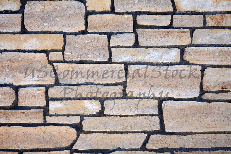 Stone Natural Cobble Ledge Field wall closeup detail