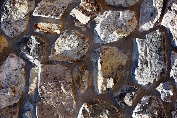 Stone Veneer granite rubble rock wall random detail closeup