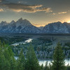 Sunset from the Snake River Overlook in Wyoming's Grand Teton National Park