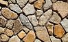 Stone Veneer Natural granite rock rubble random closeup
