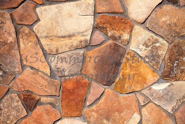 Stone natural fieldstone rock mortar wall closeup