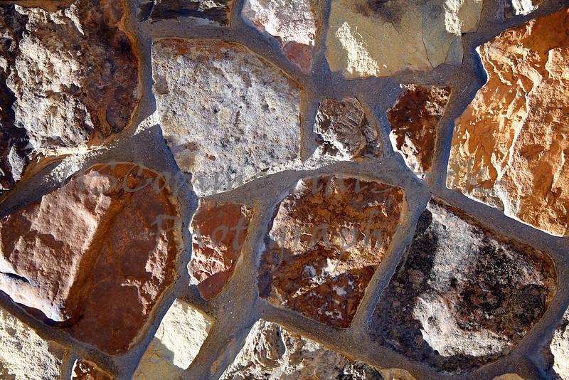 Stone Veneer Natural granite rock rubble detail closeup