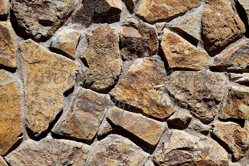 Stone Veneer Natural granite rock rubble shapes closeup
