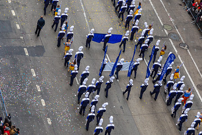 Marching band on street, background, texture, abstract, nyc,