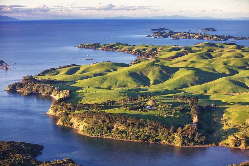 View over Motutapu Island towards Rakino and The Noises in the Hauraki Gulf Marine Park