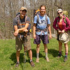 I make it out to Beech Gap behind these three backpackers from Brevard NC.  They did the South Fork/North Fork loop and were thankful for my recent trailwork.