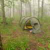 Day 3 is a zero in an all day rain in Toad Camp on the Haoe Lead trail.