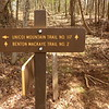 Here's another important trailsign at the place I leave the forest road and head up the ridge to my campsite.