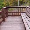 The Mountaintown Overlook deck.