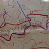 This shows the two options for backpackers on the Snowbird Creek Trail---The north 64A with no crossings and the Snowbird 64 trail with 12 crossings.