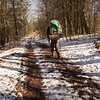 Randy Cadenza on the Fodderstack trail from Beech Gap to Cold Spring Gap.