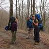Trip leaders Caroline, Paul and Nico on the Fodderstack trail.