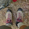 My new Asolo Fugitive boots getting their baptism on the Cow Camp trail under a 90 lb pack.