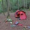 I reach Big Pine Camp midway thru the wilderness.