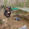 I continue down the South Fork trail and run into Steve and his son and two dogs camping by the creek.  He's from Harriman, TN.