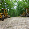 Yikes, BMT trail maintenance Tennessee style---using bulldozing scrappers to clear the Benton MacKaye trail.