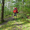 Uncle Fungus in red climbing Big Frog Mt.