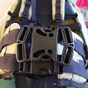 The optional quad buckle to replace the two buckles if desired.