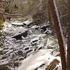 The frozen Cascades on Bald River.