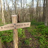 South Fork trailpost pointing out the way.