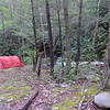 All set up on the North Fork trail before the first crossing so it becomes Camp 1.