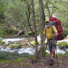 I soon reach the jct with the Grassy Branch trail with the South Fork behind me.