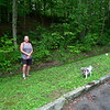 Little Mitten and Zoe Dog explore Grassy Gap.