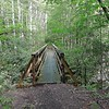 I finish South Fork and turn right onto the high wooden North Fork footbridge.