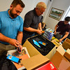 KRISTOPHER RADDER - BRATTLEBORO REFORMER<br /> Two-hundred backpacks were handed out to members of the community at the Brattleboro Auto Mall on Friday, Aug. 25, 2017.
