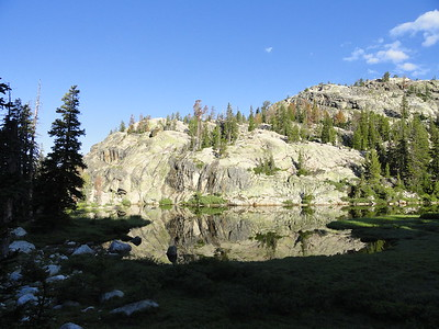 Unnamed lake (near Photographers Point)(10,200); Bridger Wilderness, Bridger-Teton National Forest, August 6, 2011.