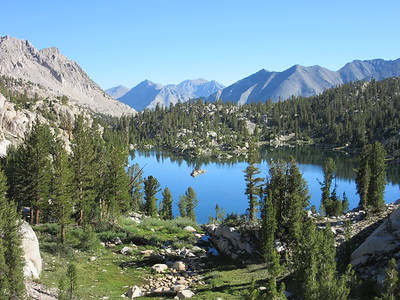 Unnamed lake (in Sixty Lake Basin)(10,600); John Muir Wilderness, Kings Canyon National Park, July 16, 2015.