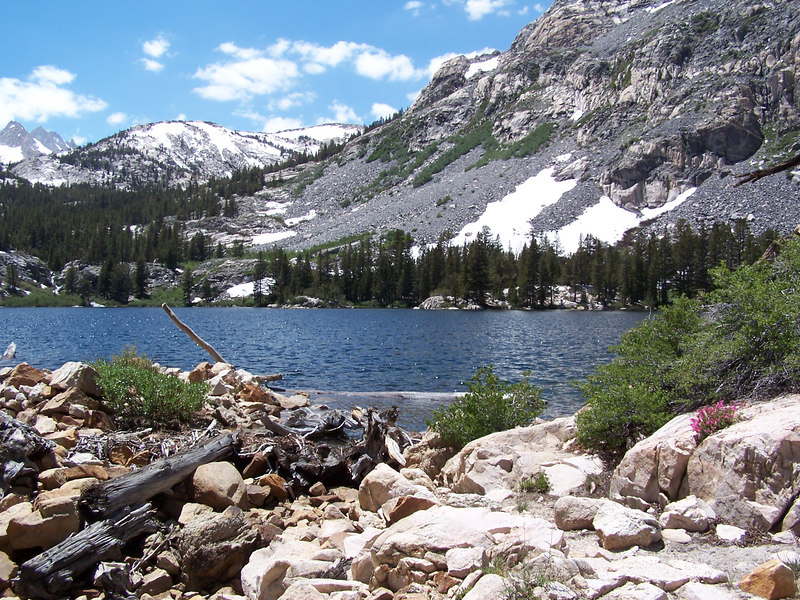 Lower Pine Creek Lake - the first of several beautiful lakes we passed.