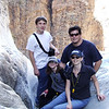 Family photo on the polished rocks in the Chisos Basin Draw.(The Window)