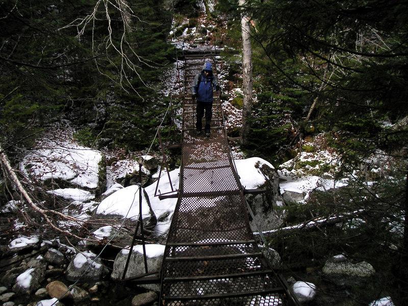 A metal bridge near Bushnell Falls